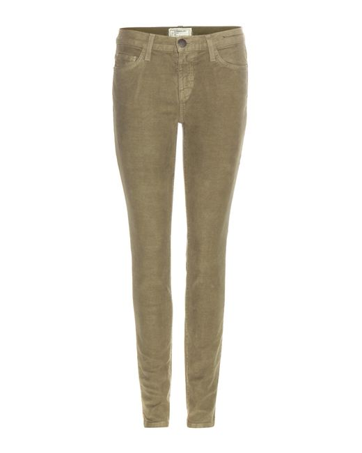 Current/Elliott - Green Skinny Jeans The Ankle - Lyst