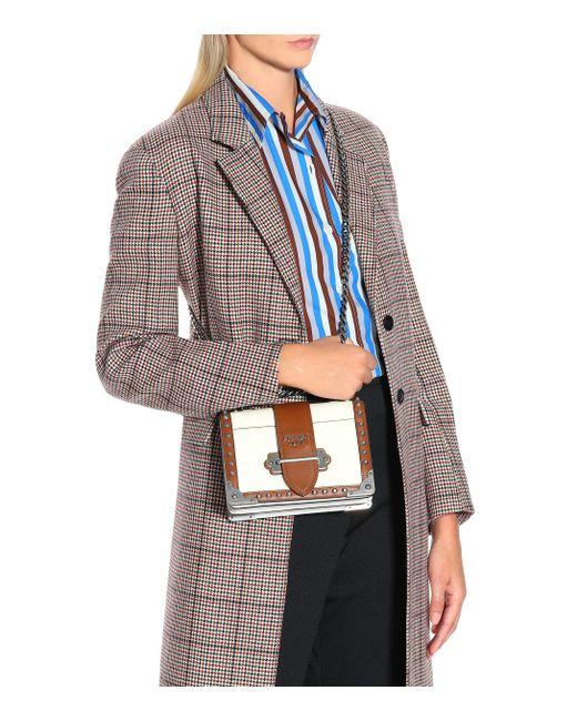 b12c58064a5f ... Prada - Multicolor Cahier Leather Shoulder Bag - Lyst ...