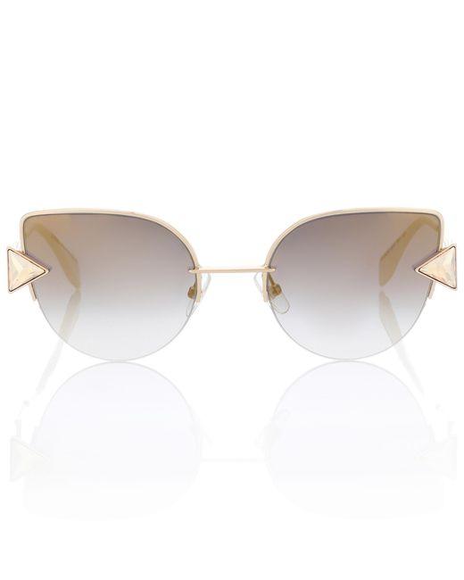 Fendi - Yellow Cat-eye Sunglasses - Lyst