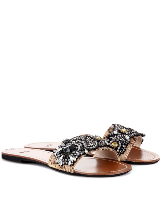 N°21 - Multicolor Italo Embellished Sandals - Lyst