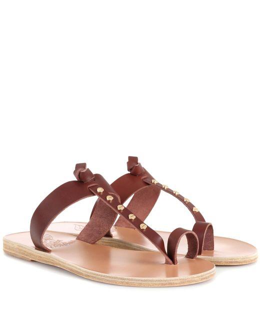 Ancient Greek Sandals - Brown Melpomeni Nails Leather Sandals - Lyst