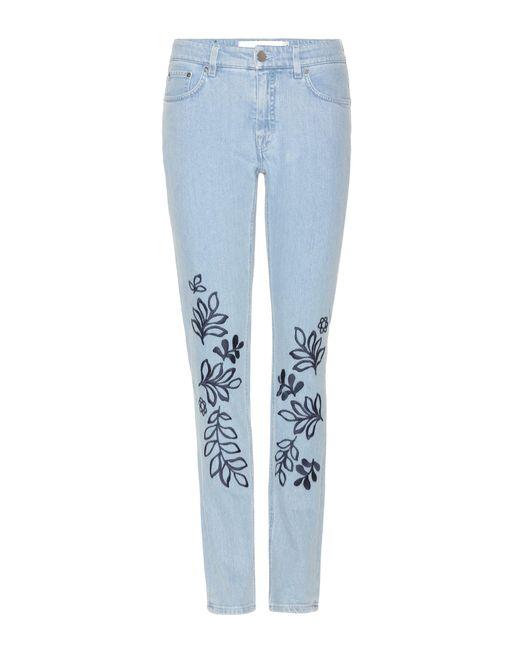 Victoria, Victoria Beckham - Blue Bestickte Jeans - Lyst