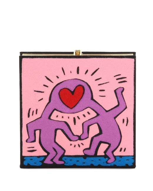 Olympia Le-Tan - Pink X Keith Karing Love Book Clutch - Lyst
