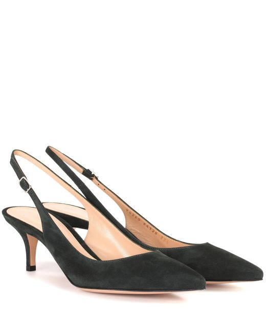 Gianvito Rossi | Green Jackie Suede Sling-back Pumps | Lyst