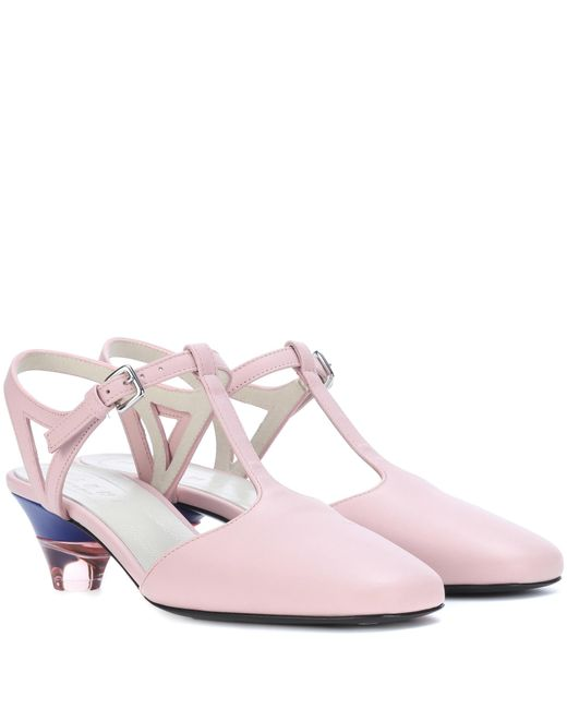 Marni - Pink Leather Pumps - Lyst