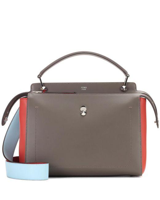 Fendi   Multicolor Dotcom Leather Shoulder Bag   Lyst