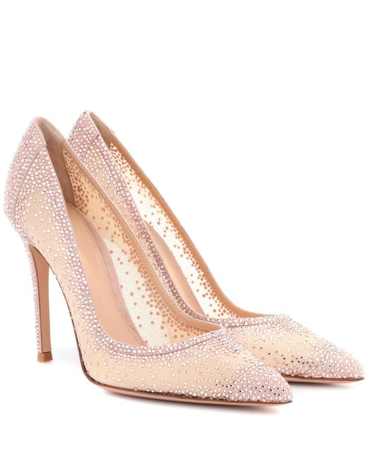 Gianvito Rossi - Multicolor Exclusive To Mytheresa.com – Rania Crystal-embellished Pumps - Lyst