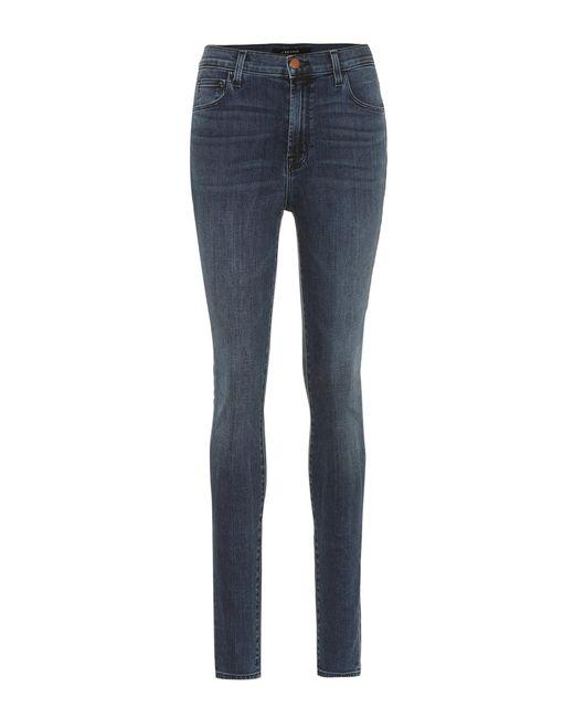 J Brand - Blue Carolina High-waisted Skinny Jeans - Lyst