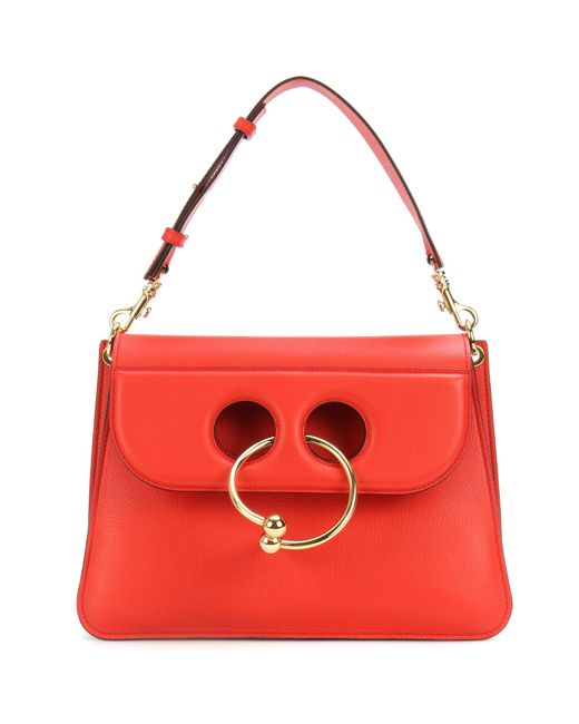 J.W. Anderson | Red Medium Pierce Leather Shoulder Bag | Lyst