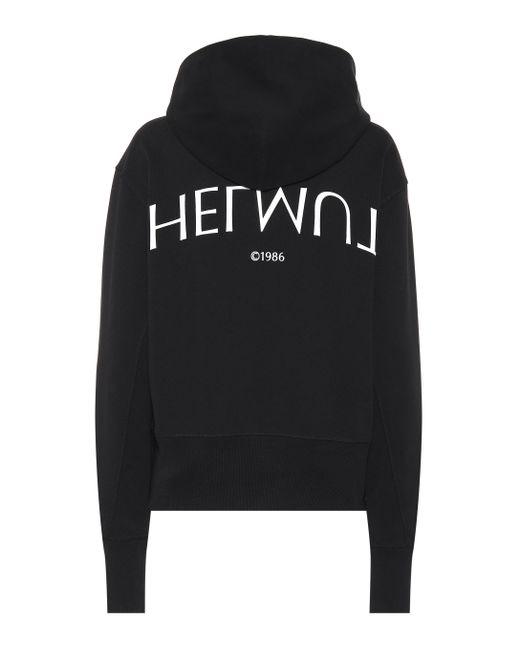 Helmut Lang - Black Printed Cotton Sweater - Lyst