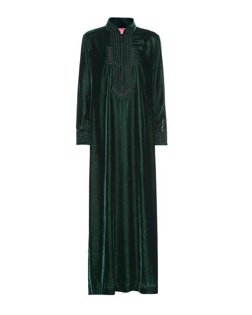 F.R.S For Restless Sleepers - Green Epione Velvet Maxi Dress - Lyst