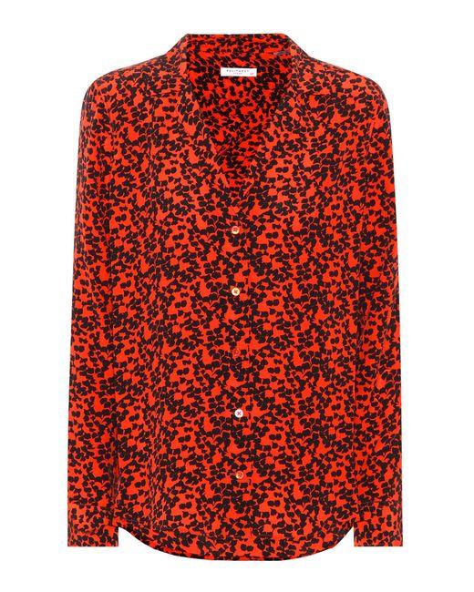 Equipment - Red Adalyn Printed Silk Shirt - Lyst