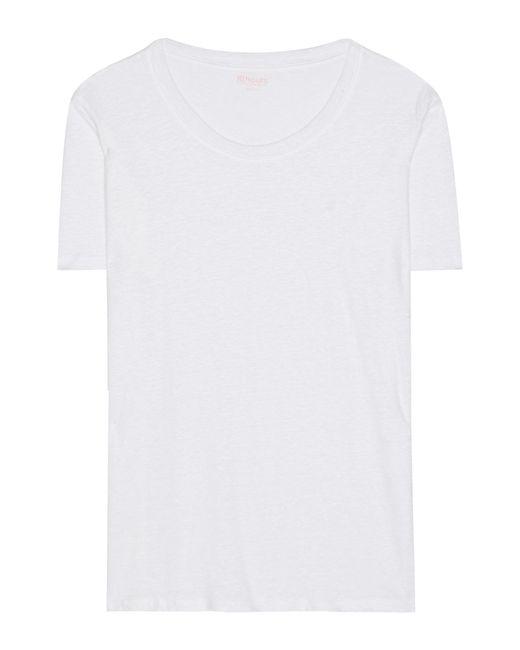 81hours White Pepper Linen T-shirt