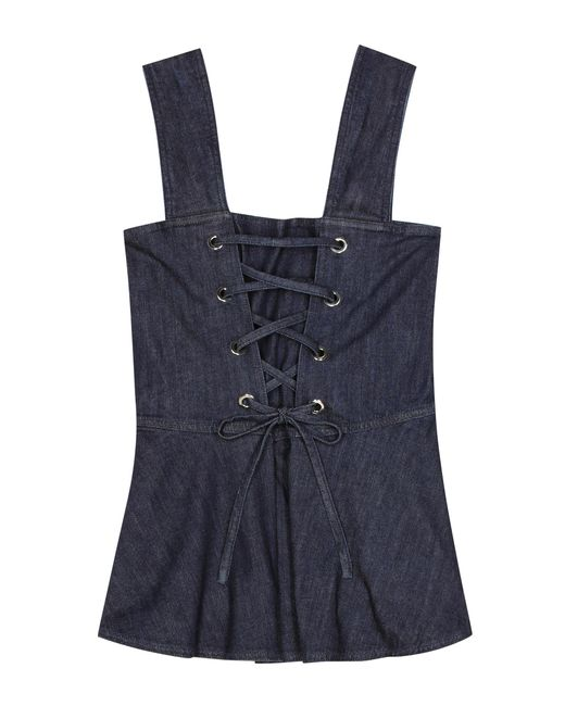 See By Chloé - Blue Sleeveless Denim Top - Lyst