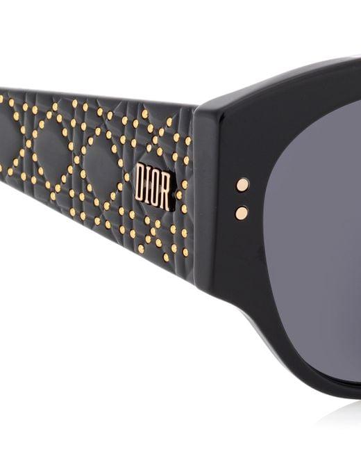 8f86a3fd4a ... Dior - Black Lunettes de soleil LadyDiorStuds - Lyst ...