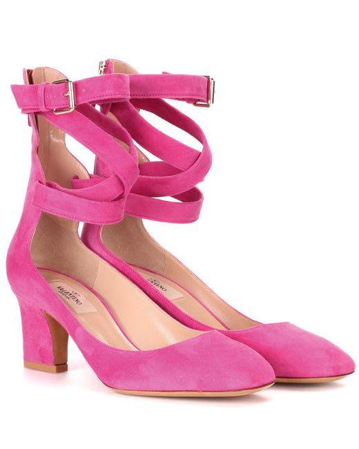 Valentino - Pink Garavani Suede Pumps - Lyst