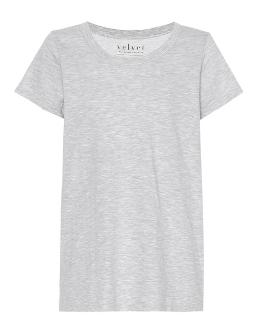 Velvet - Gray Tilly Cotton T-shirt - Lyst