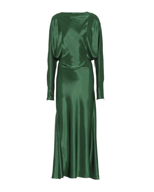 Victoria Beckham - Green Draped Midi Dress - Lyst