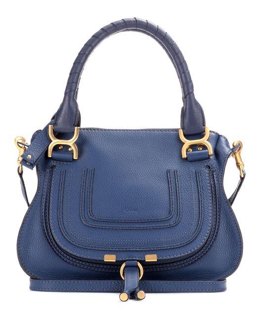 Chloé - Blue Marcie Medium Leather Bag - Lyst