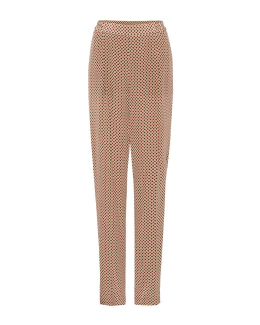 Stella McCartney - Brown Cicely Printed Silk Trousers - Lyst