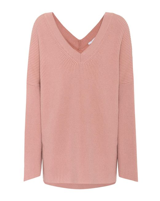 Stella McCartney | Pink Oversized Wool Sweater | Lyst