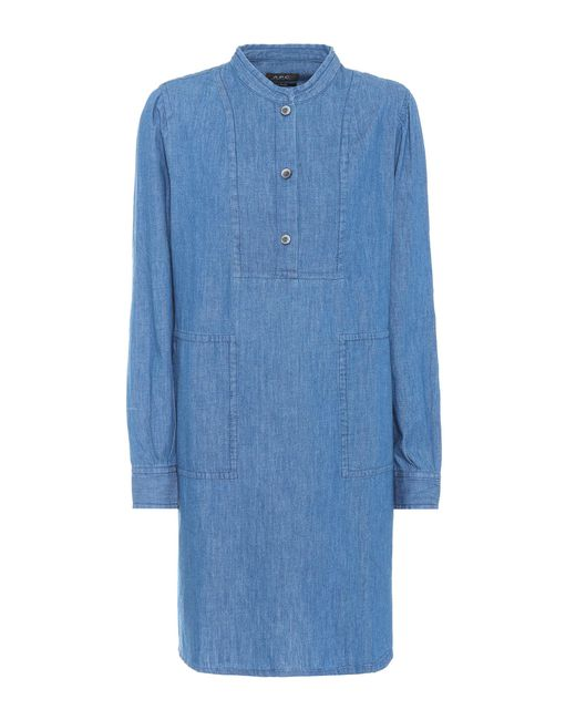 A.P.C. - Blue Chambray Dress - Lyst