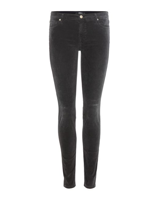 7 For All Mankind - Gray The Skinny Corduroy Trousers - Lyst
