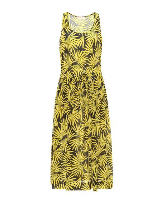 Diane von Furstenberg - Yellow Printed Cotton And Silk Dress - Lyst