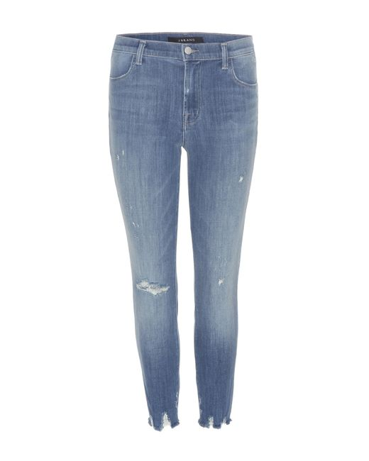 J Brand - Blue Alana High-rise Cropped Jeans - Lyst