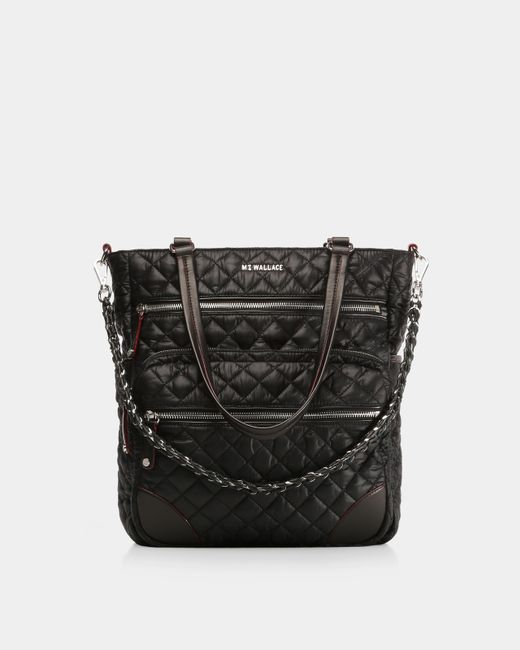 MZ Wallace - Quilted Black Crosby Tote - Lyst