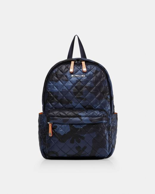 MZ Wallace - Dark Blue Camo Print Small Metro Backpack - Lyst