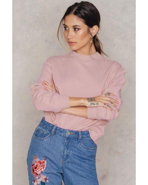 NA-KD | Pink Basic Sweater | Lyst