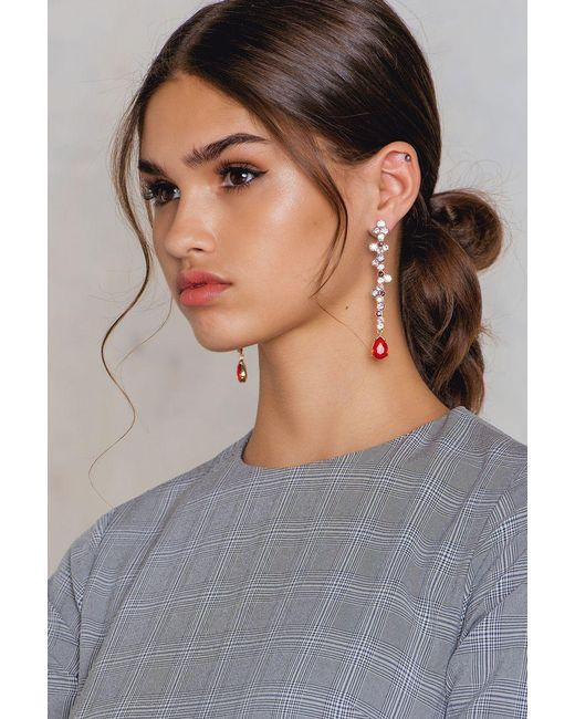 NA-KD   Multicolor Rhinestone Pin Earring   Lyst