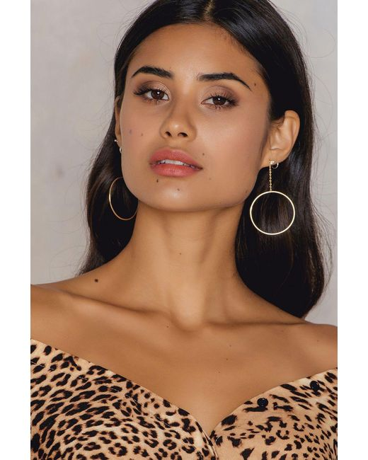 Shashi | Metallic Lauren Hoop Earrings | Lyst
