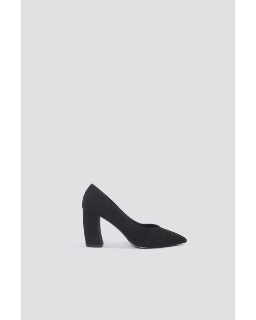 NA-KD - Black Rounded Heel Pumps - Lyst