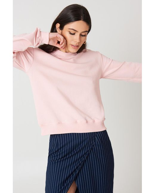 NA-KD - Pink Basic Sweater - Lyst