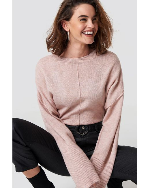 Trendyol - Cropped Knitted Sweater Powder Pink - Lyst