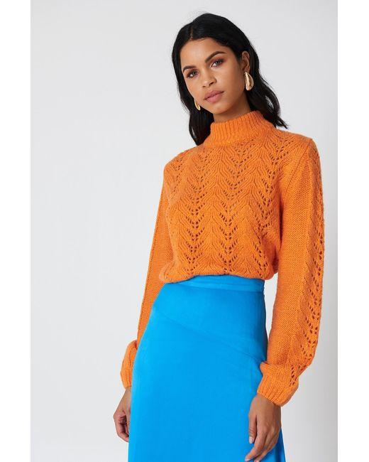 NA-KD Knitwear Sweater Orange