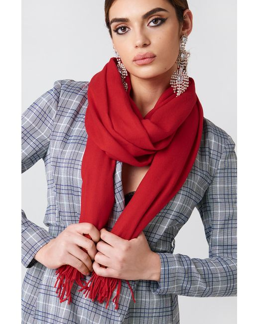 NA-KD - Red Woven Scarf - Lyst