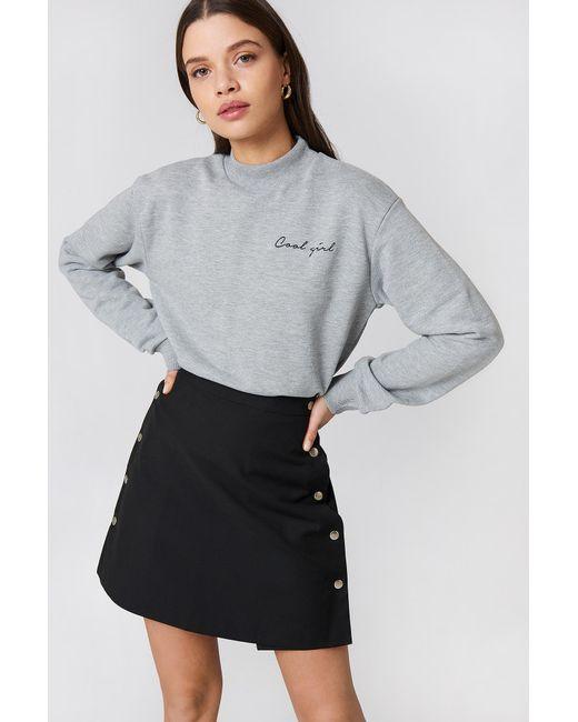 NA-KD - Gray Cool Girl Sweatshirt Grey Melange - Lyst