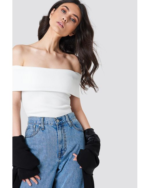NA-KD - Multicolor Wide Off Shoulder Cropped Top - Lyst