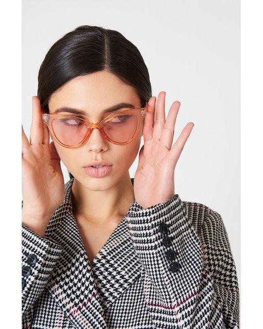 NA-KD - Orange Pointy Colored Sunglasses - Lyst