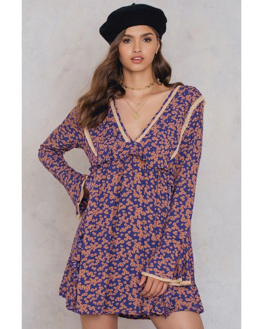 Free People | Purple Like You Best Mini Dress | Lyst