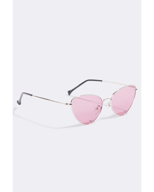 NA-KD Accessories Metal Frame Cat Eye Sunglasses - Pink,Gold