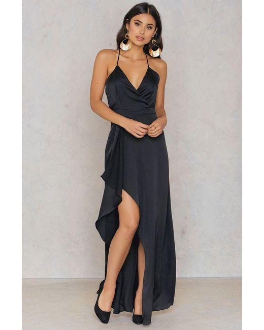 Passion Fusion | Black Slip Maxi Dress | Lyst