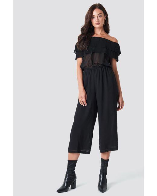 d01cd2e8cb0 Lyst - Rut Circle Frill Jumpsuit Black in Black
