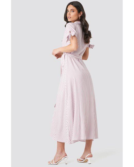 fa501c5e767 ... Trendyol - Tulum Striped Long Dress Pink - Lyst ...