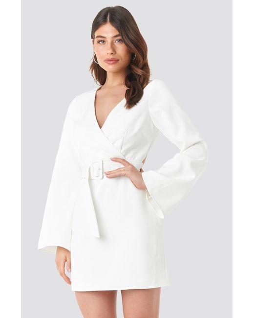00e4f53d42abc7 ... NA-KD - Open Back Mini Dress White - Lyst ...