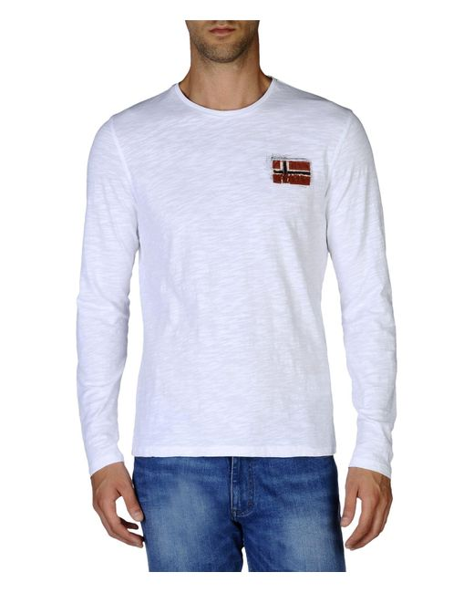 Napapijri | White Long Sleeve T-shirt for Men | Lyst
