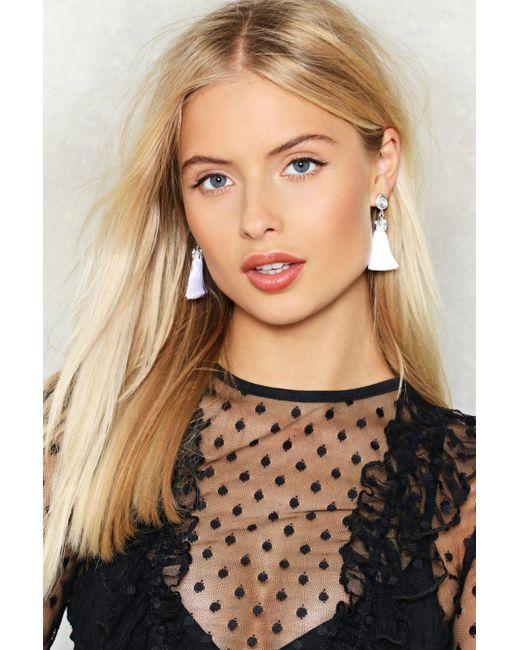 Nasty Gal | Metallic Queen Of The Tassel Earrings Queen Of The Tassel Earrings | Lyst